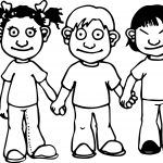 Children Friendship Coloring Page