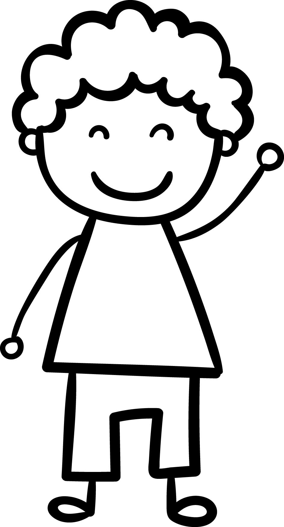 Children Hi Coloring Page