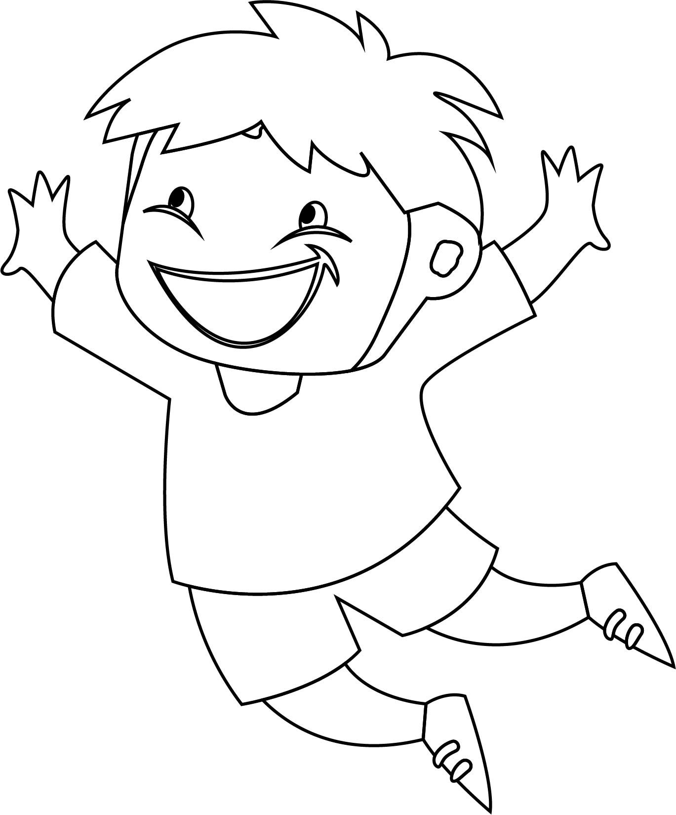 www coloring page com - children jump coloring page