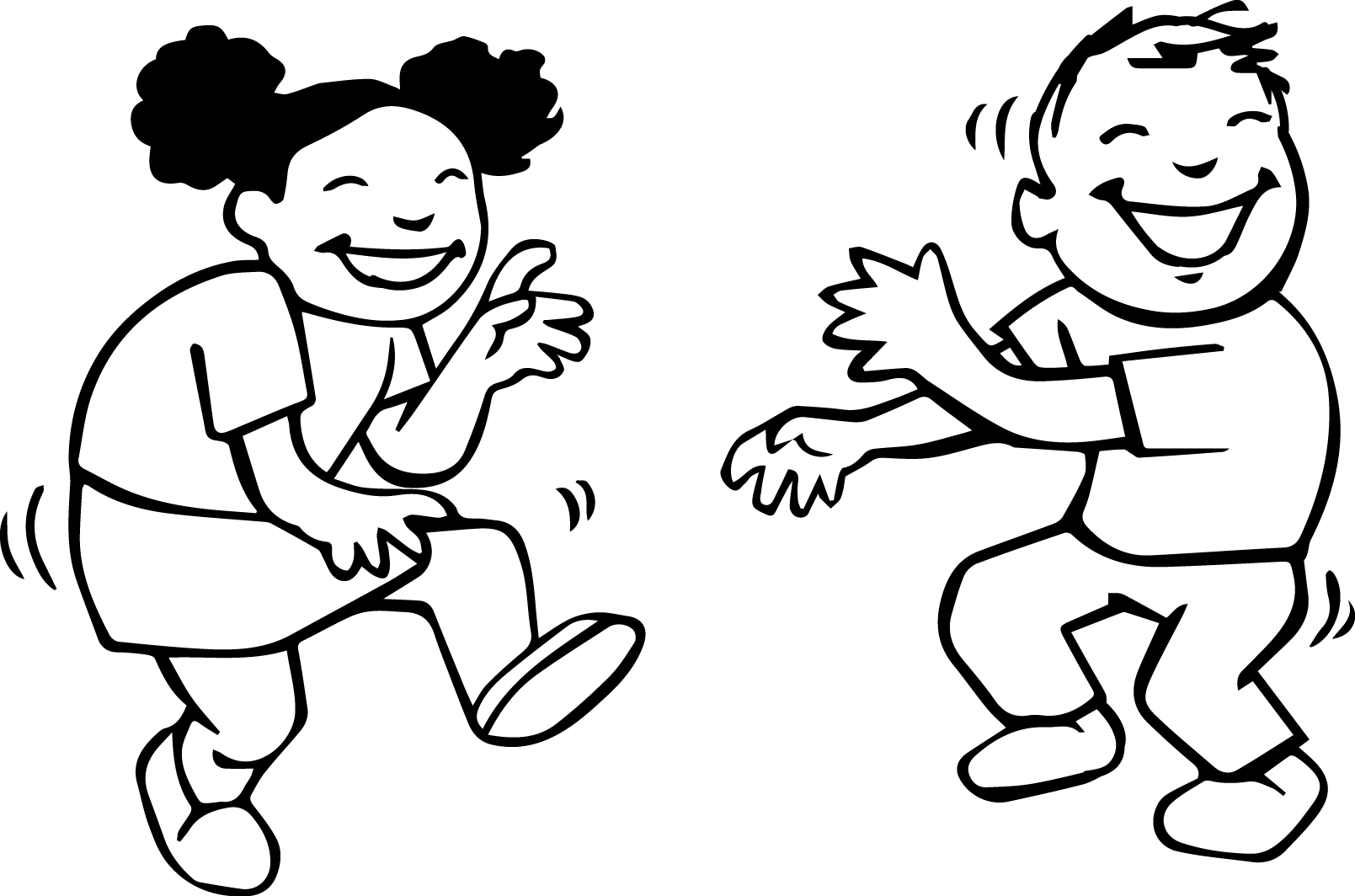 Children Play Coloring Page