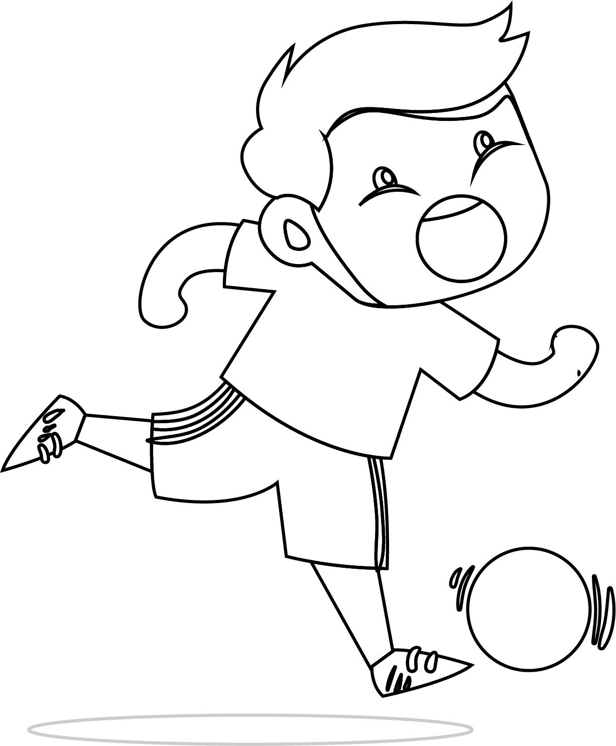 Children Playing Ball Coloring Page