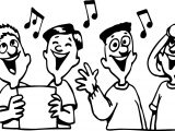 Children Singing Free Coloring Page