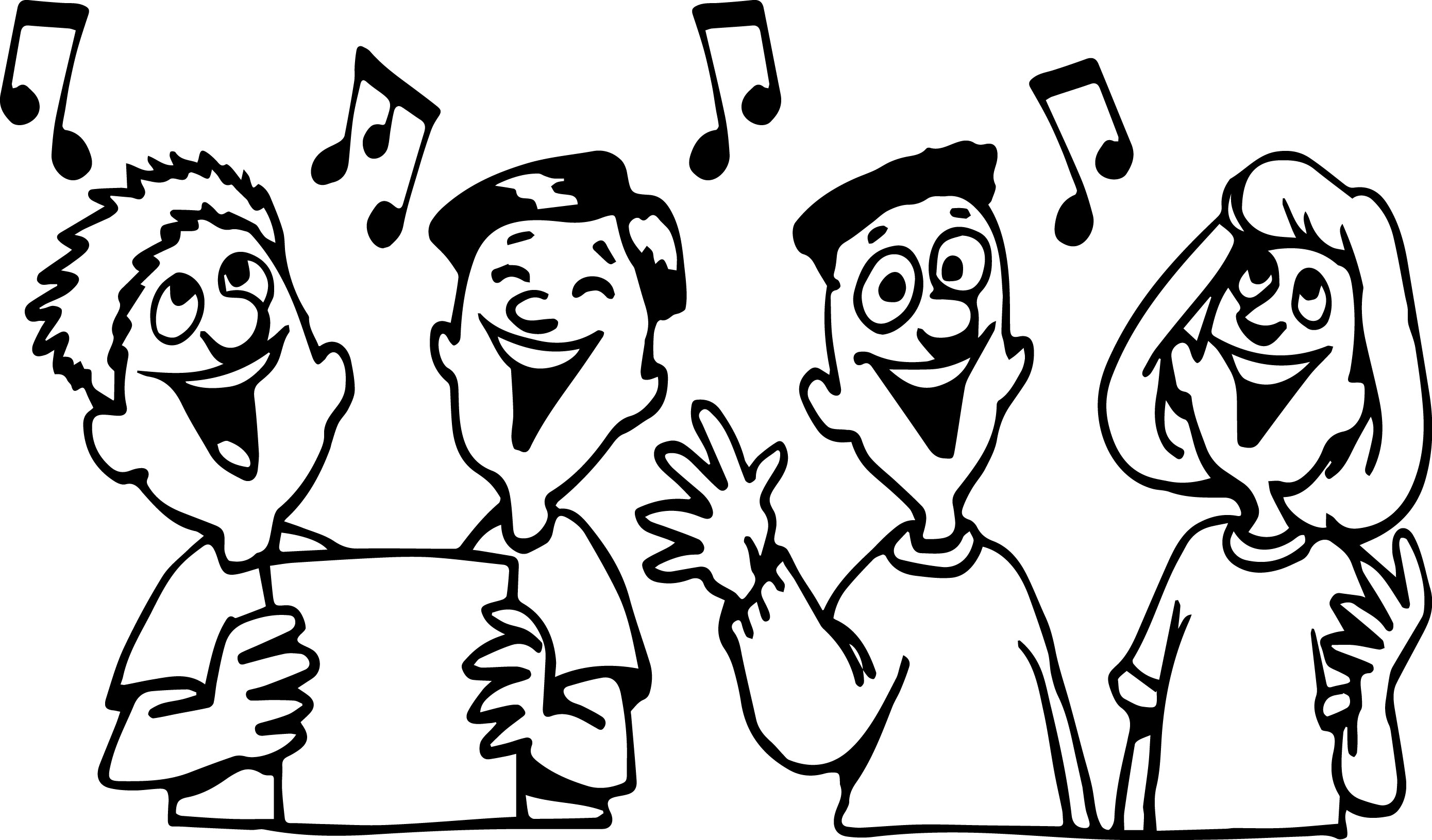 children singing coloring pages - photo#18