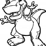Chomper The Tyrannosaurus Coloring Page