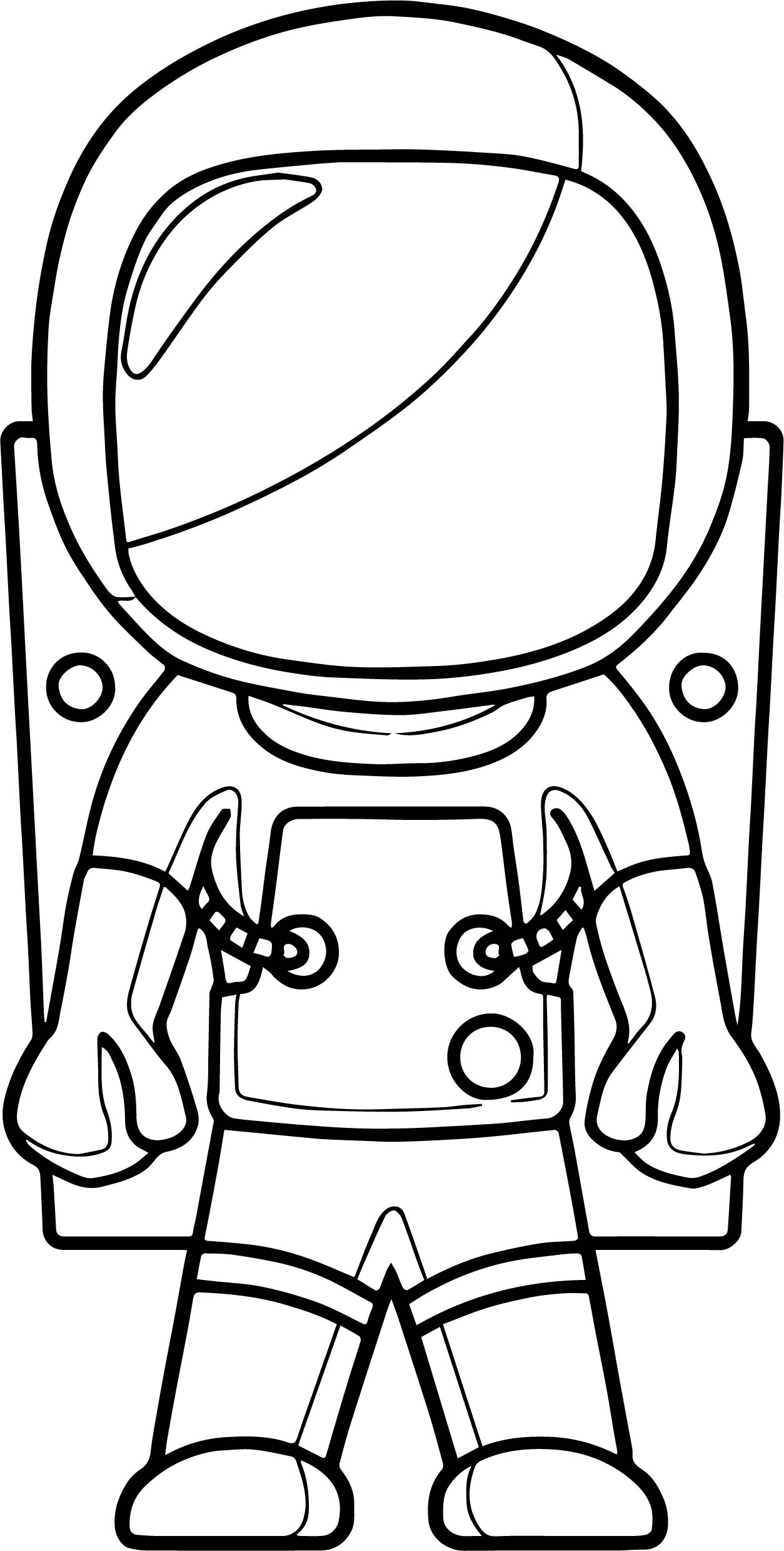 Closed Astronaut Coloring Page