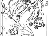 Collab Ariel The Little Mermaid Coloring Page