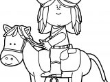 Cowboy Cow Girl Coloring Page