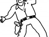 Cowboy Dance Coloring Page