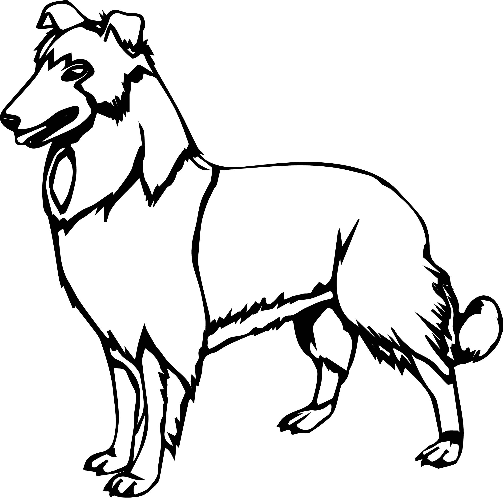 Crazy Dog Coloring Page
