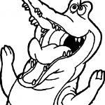 Crocodile Alligator Mouth Coloring Page