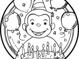 Curious George Lunch Plates Circle Coloring Page