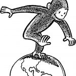 Curious George On World Learns Fiscal Responsibility Coloring Page