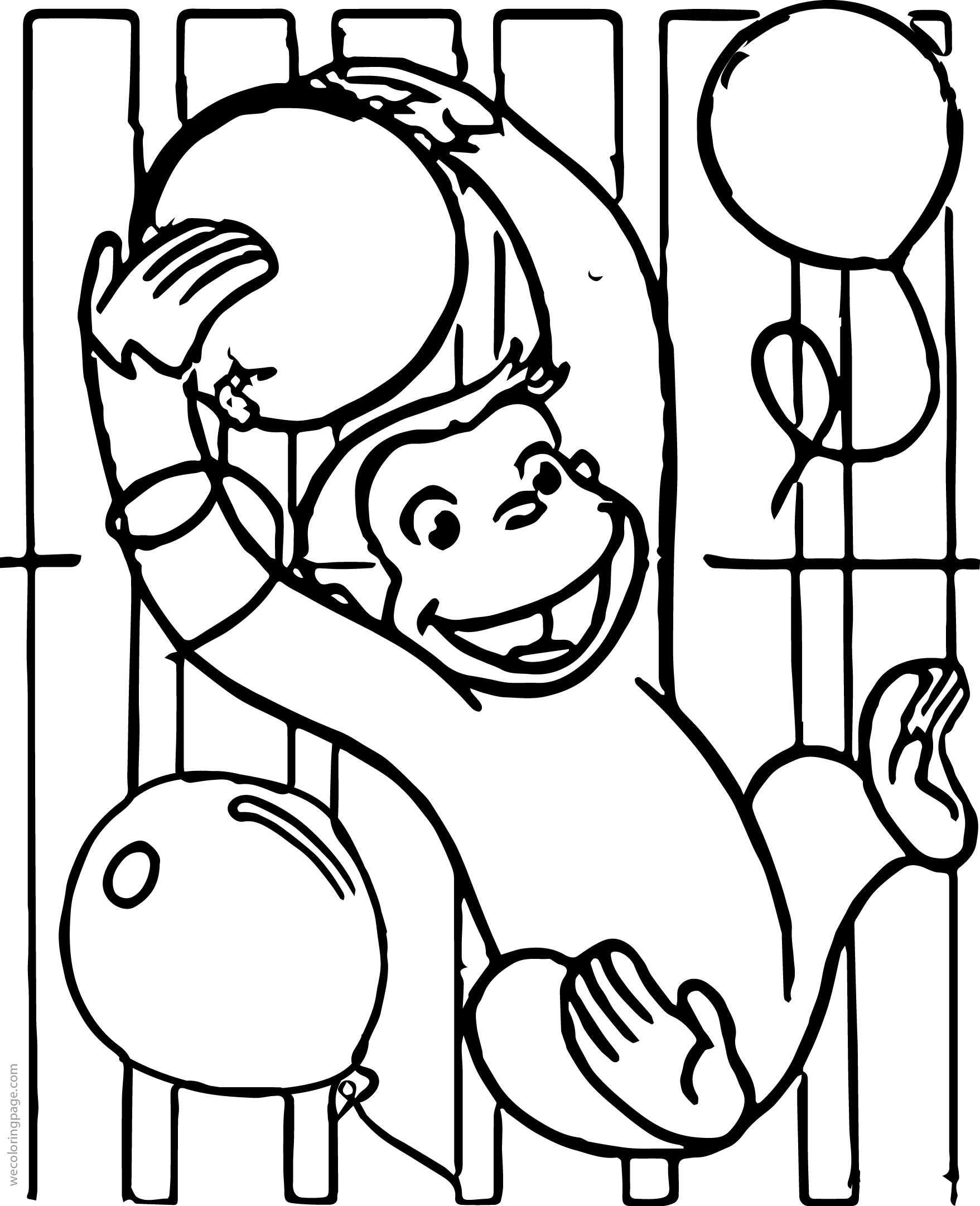 curious george printables coloring pages - curious george party invitations coloring page