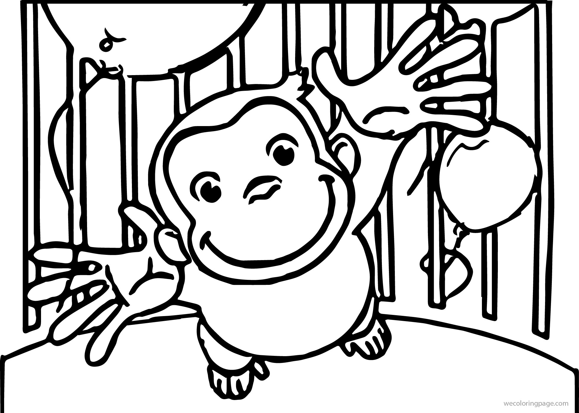 Curious George Treat Bags Coloring Page