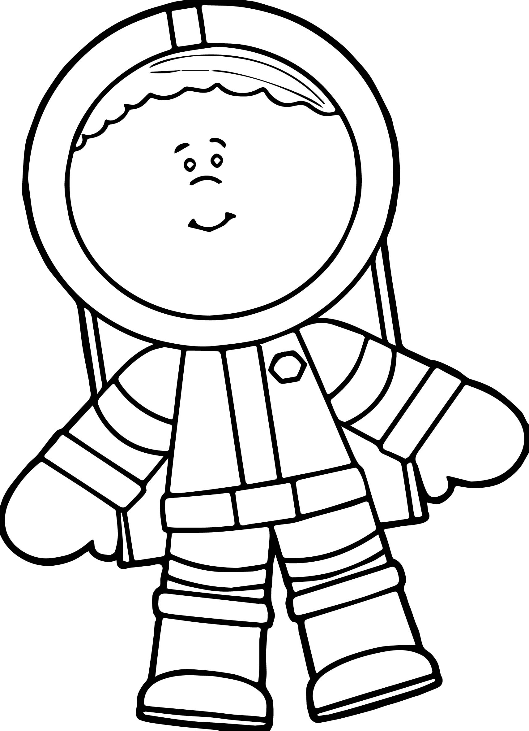 cute astronaut boy coloring page wecoloringpage
