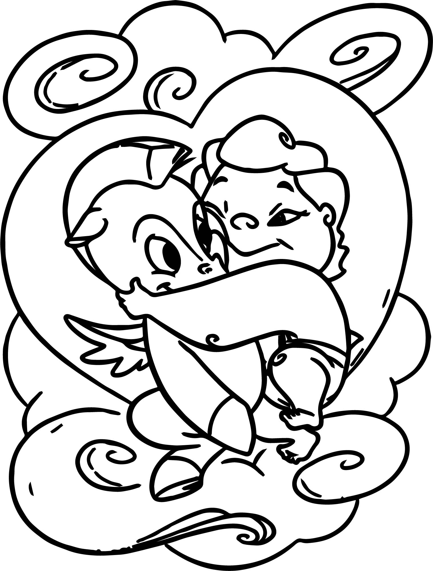 Cute Baby Hercules And Baby Pegasus Coloring Pages