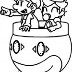 Daisy And Mario Go Coloring Page