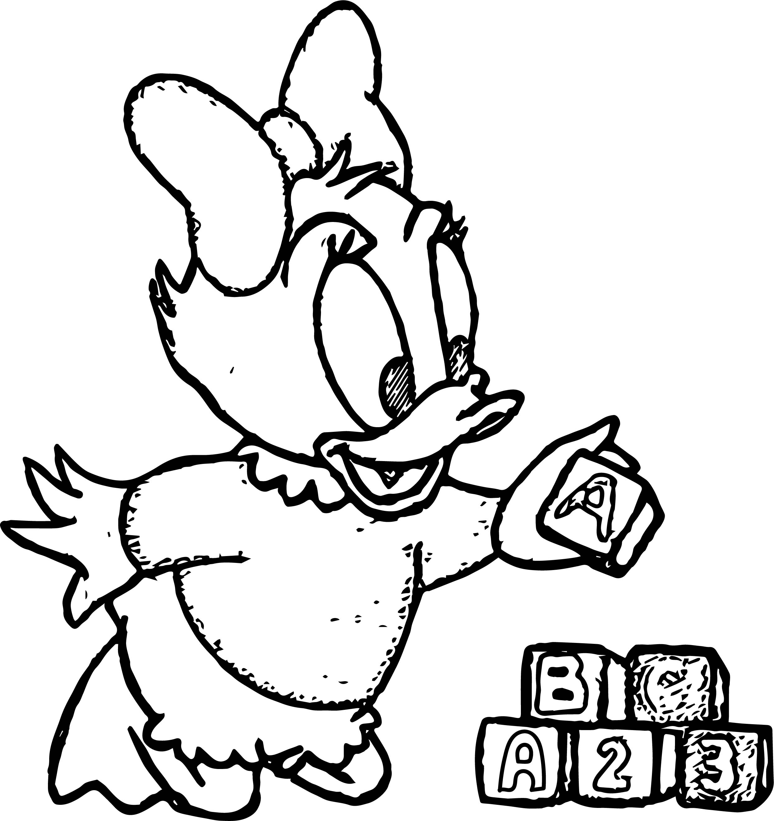 Daisy Coloring ABC Page