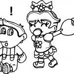 Daisy Joke Luigi Coloring Page