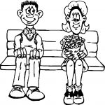 Date First Date Coloring Page