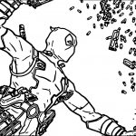 Deadpool Bullet Coloring Page