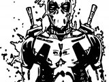 Deadpool Shock Coloring Page