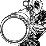 Deadpool Sniper Coloring Page