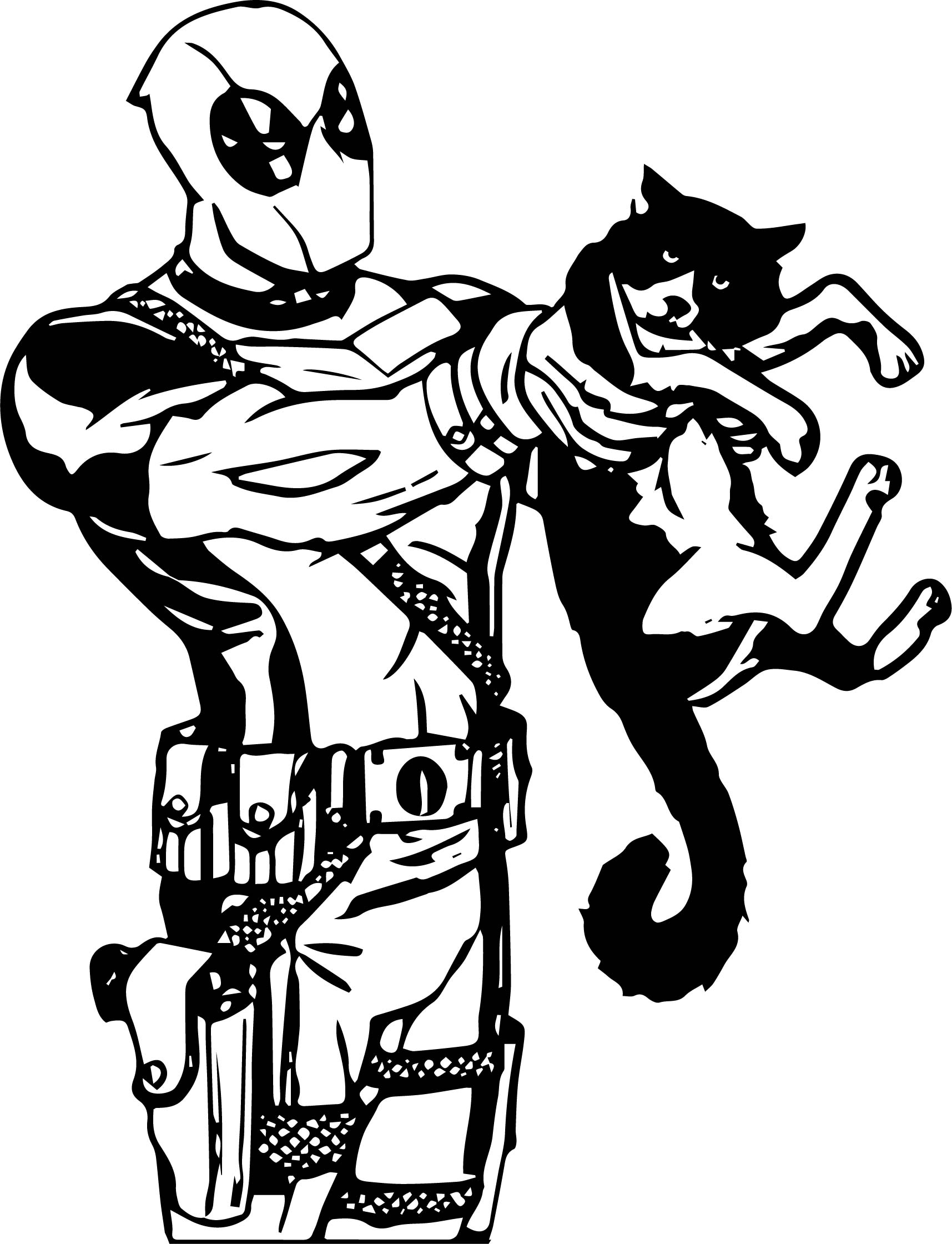 Deadpool This Cat Coloring Page