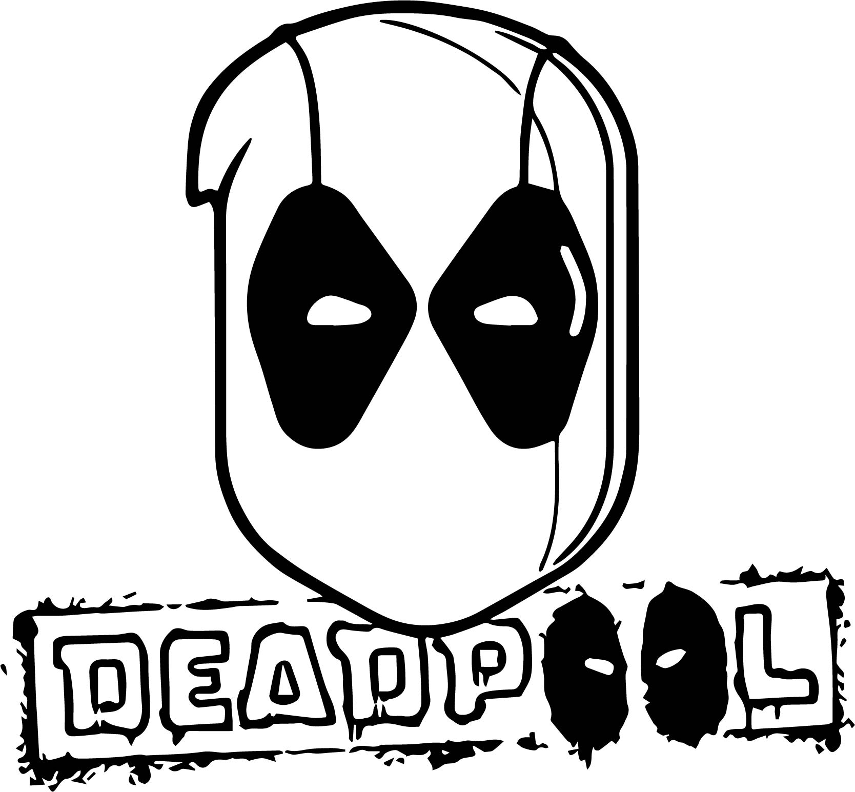 Deadpool Time Coloring Page