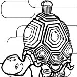 Delicious Tortoise Turtle Coloring Page