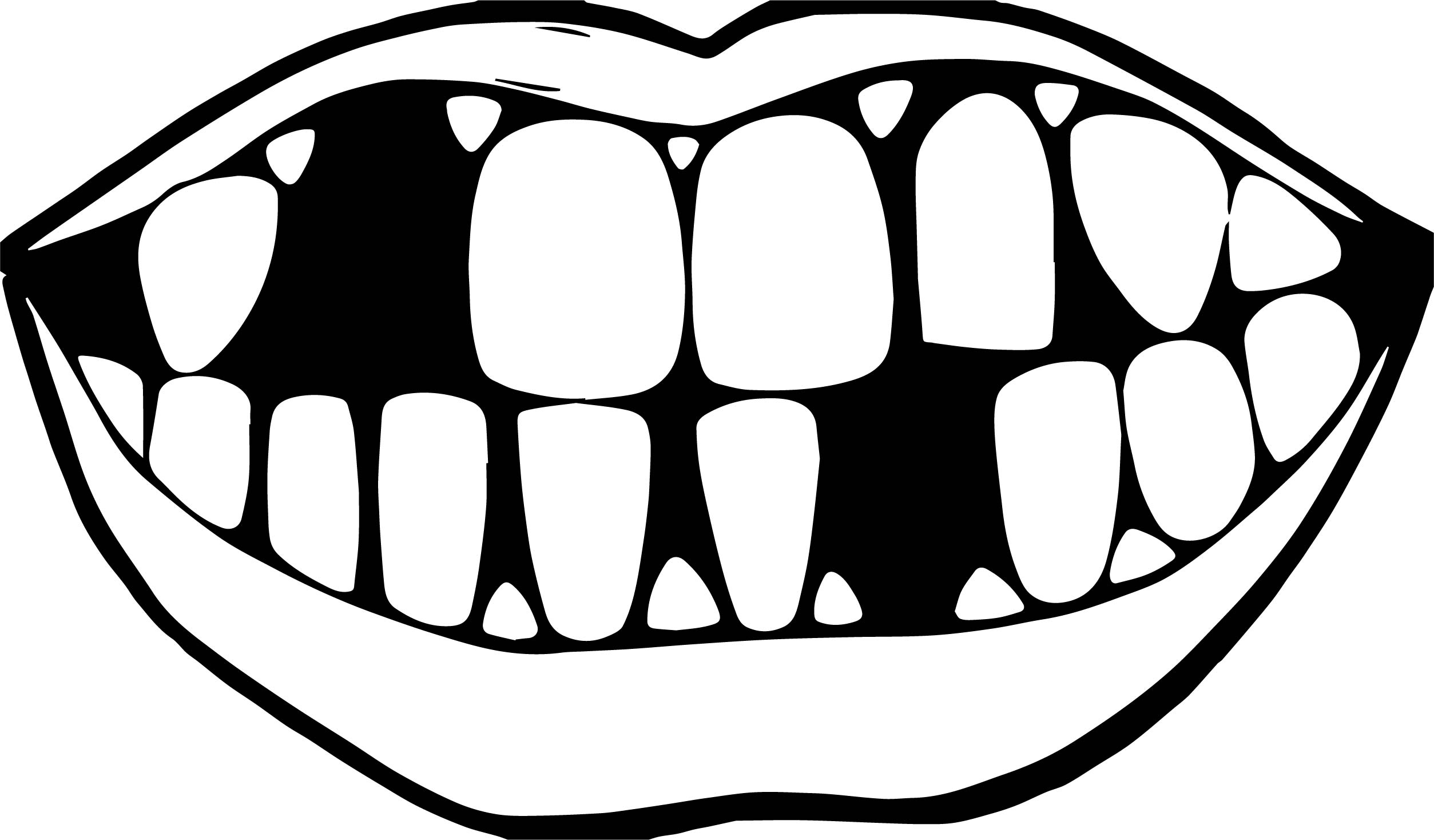 Dental bad teeth coloring page for Teeth coloring pages