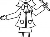 Dental Dentist Doctor Woman Coloring Page