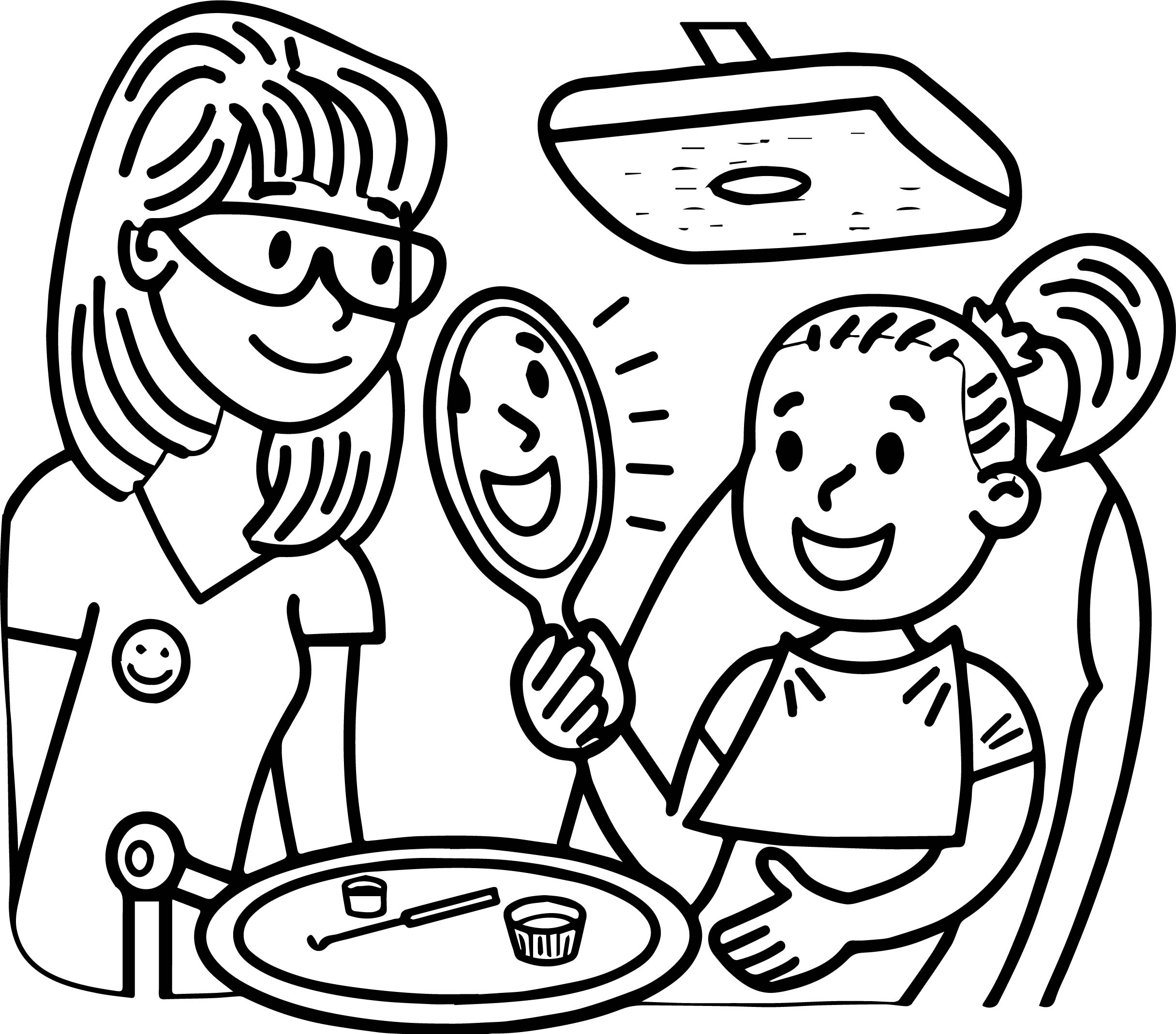 Dental Doctor And Girl Perfect Teeth Coloring Page