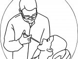 Dental Doctor Looking Coloring Page