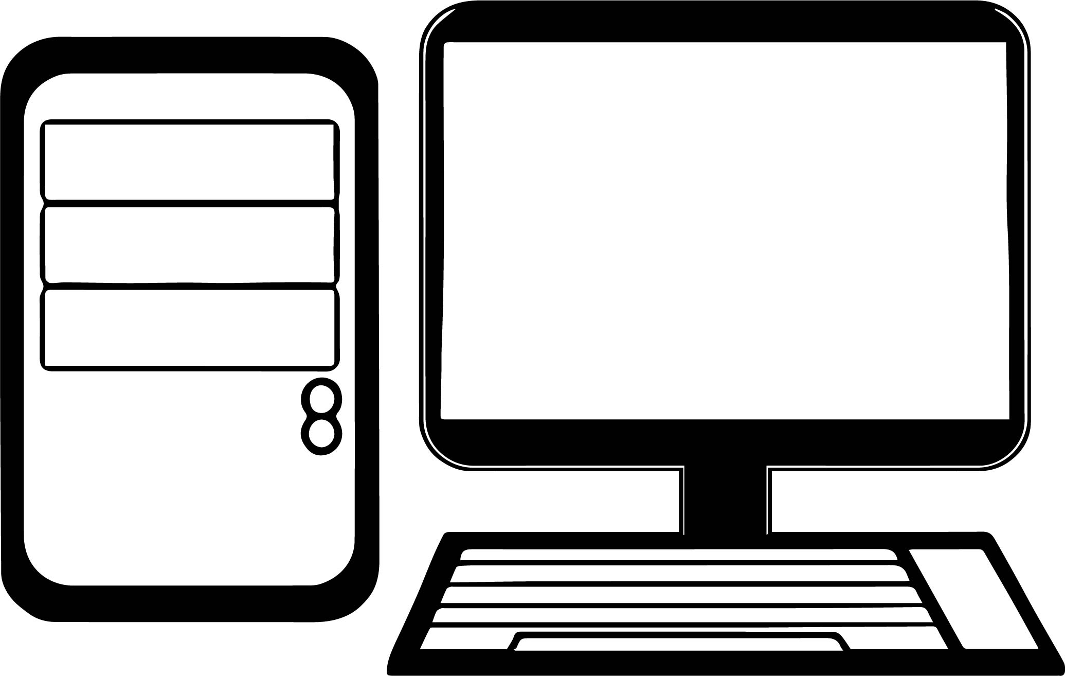 Desktop Computer Coloring Page