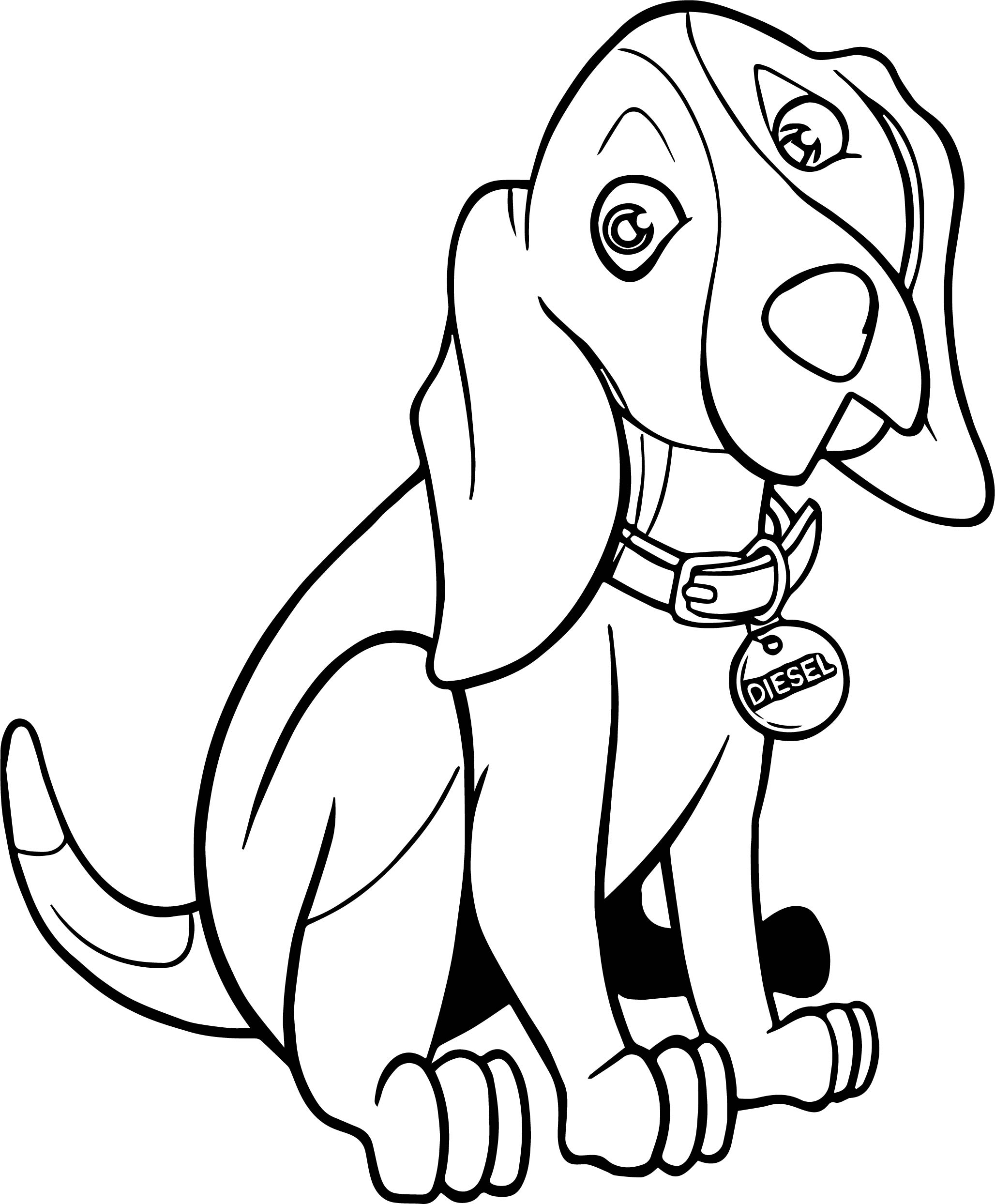 Diesel Dog Coloring Pages