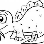 Dinosaur Eating Food Coloring Page