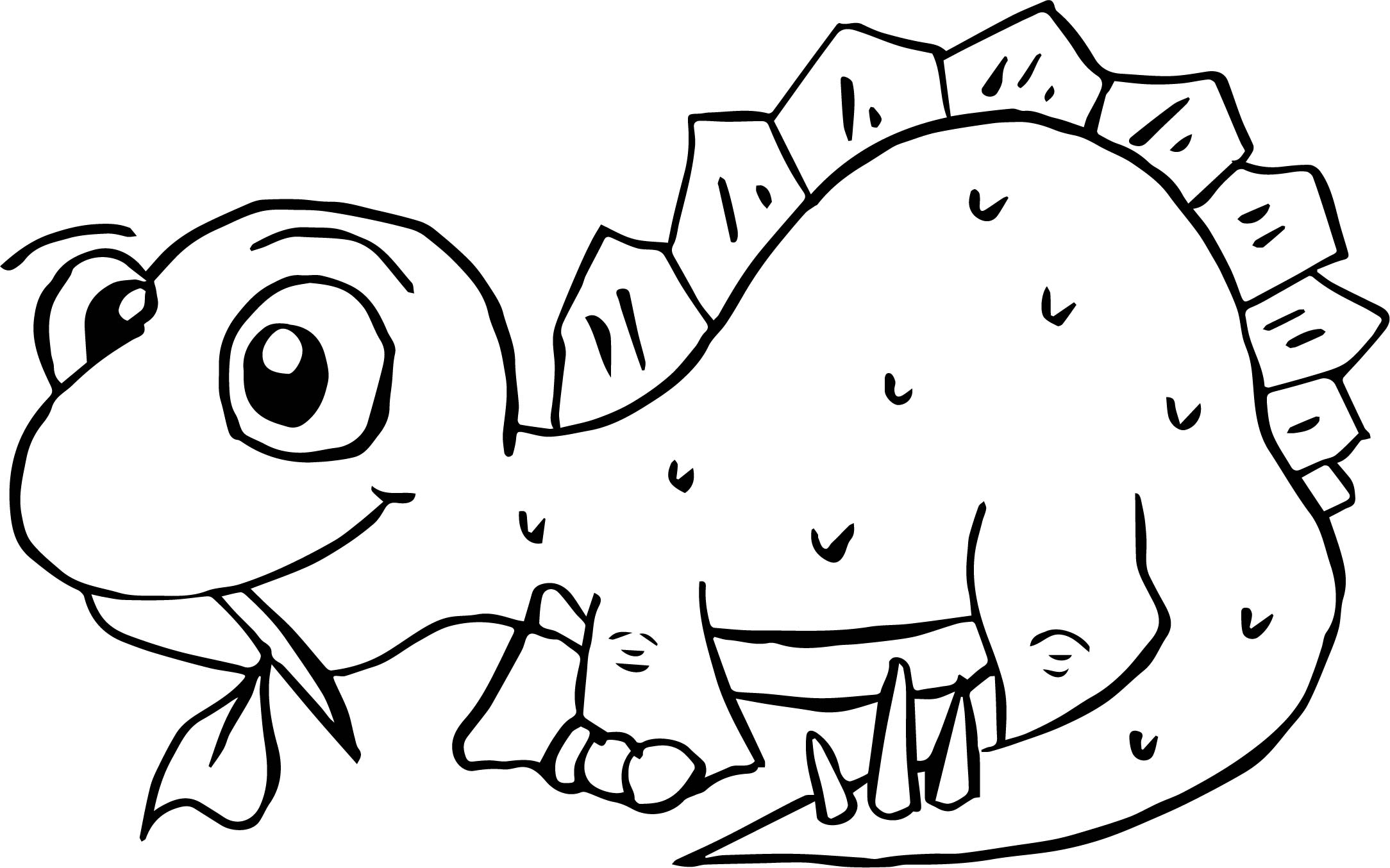 Dinosaur Eating Food Coloring Page