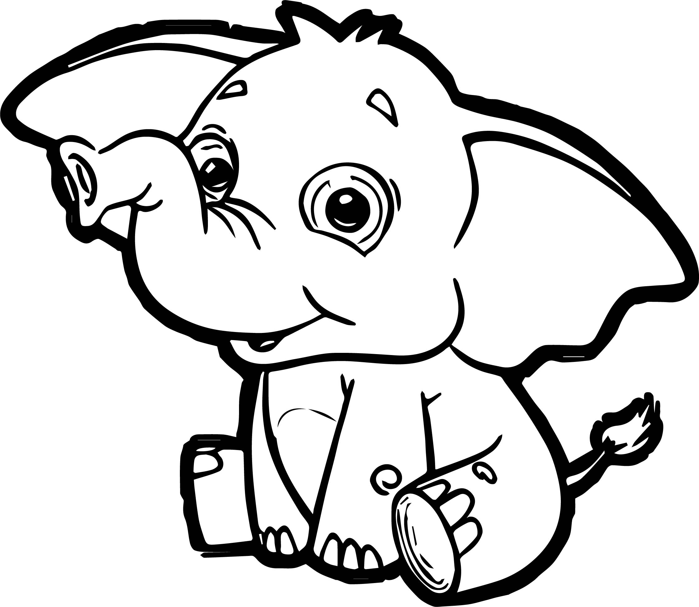 Dinosaur Elephant Coloring Page