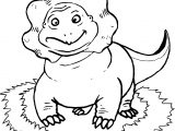 Dinosaur Front View Coloring Page