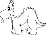 Dinosaur Tongue Coloring Page