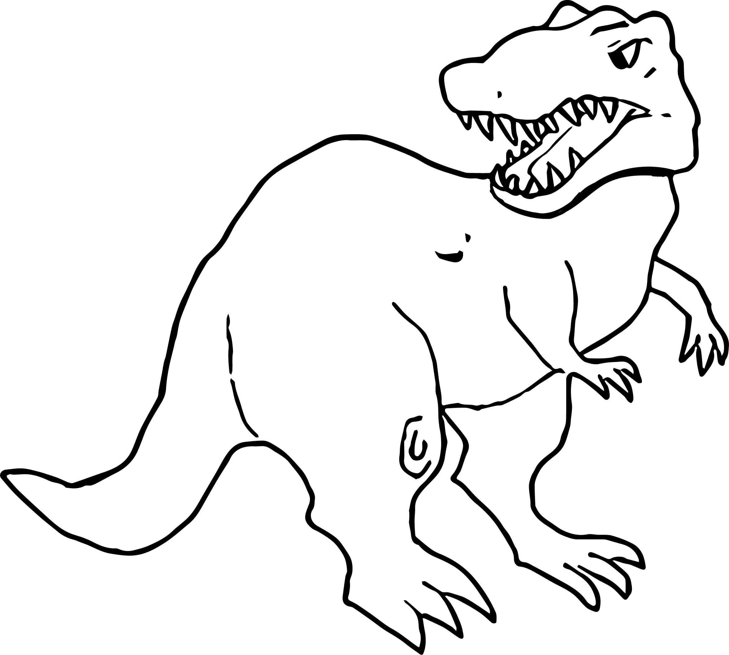 Dinosaur Tyrannosaurus Rex Color Coloring Page Wecoloringpage