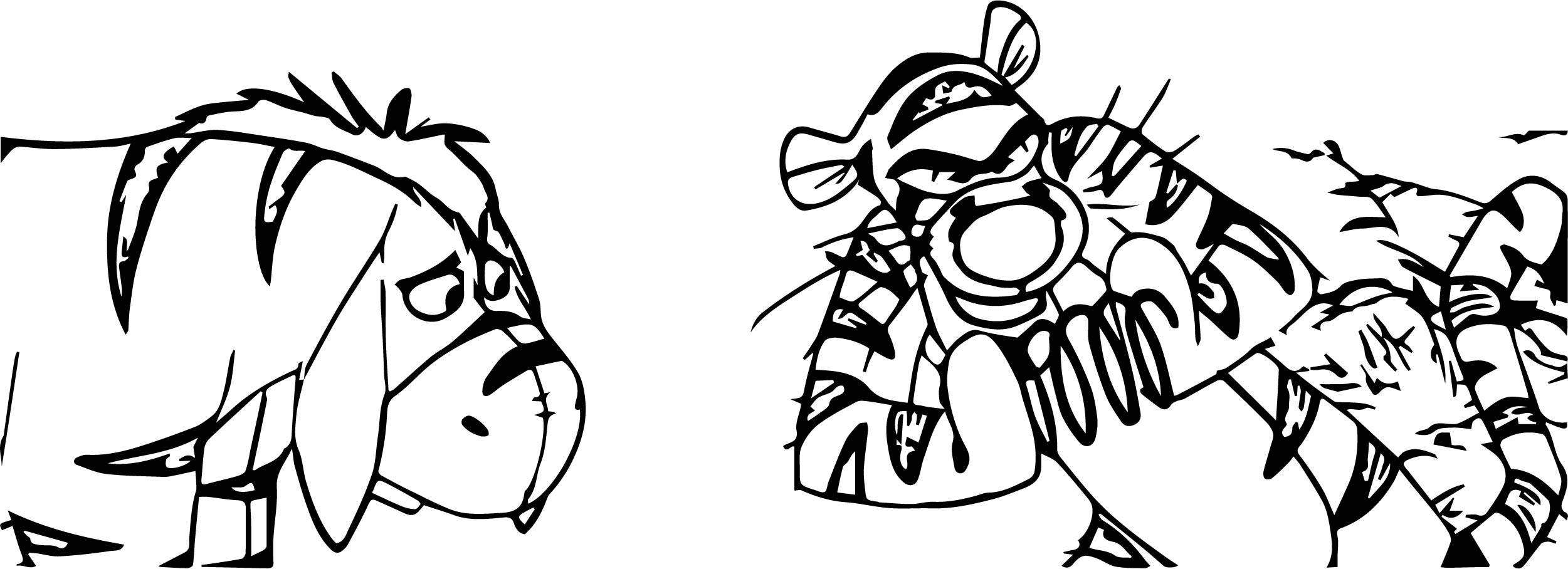 Disgusted Tigger Coloring Page