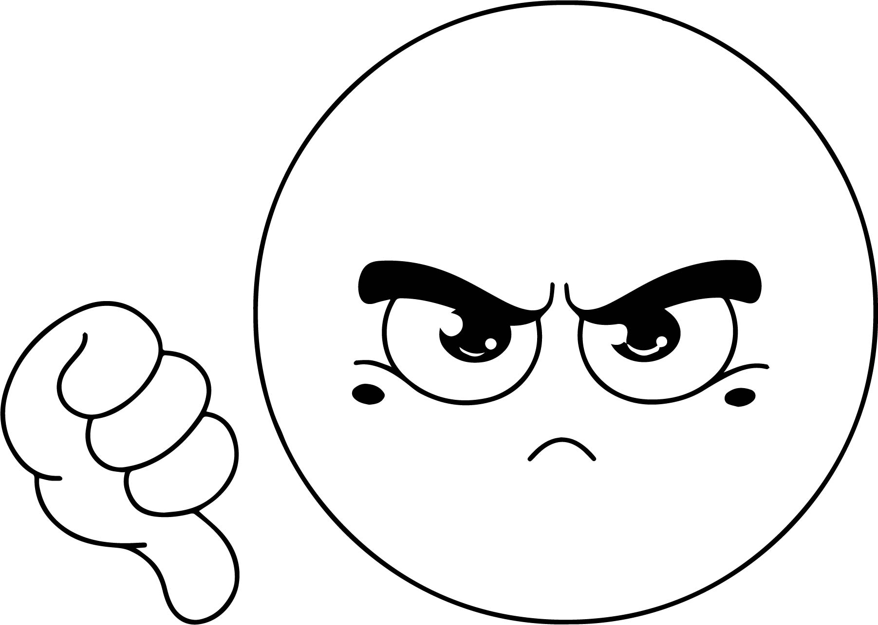 Dislike Emoticon Emology Coloring Page