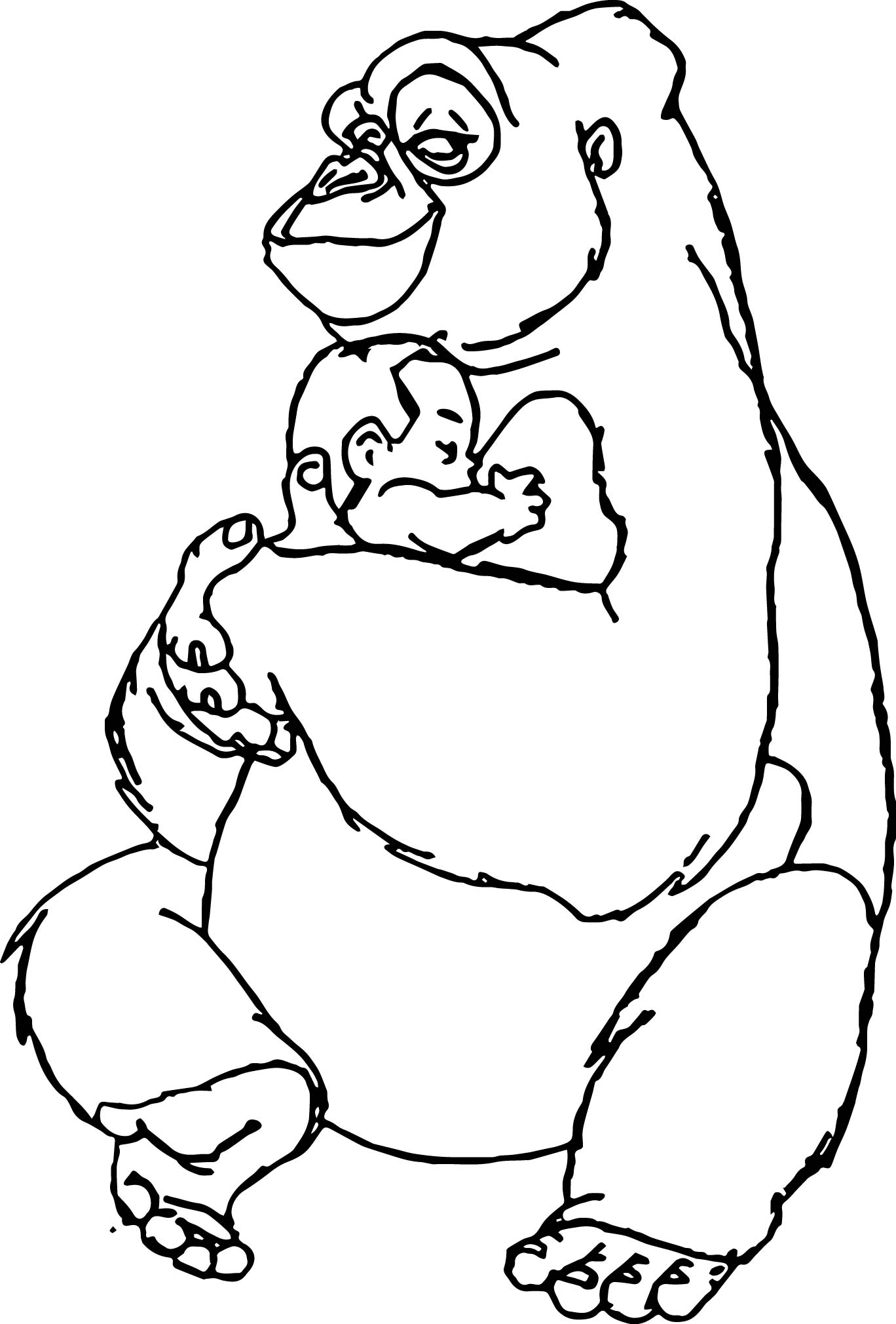 Disney Baby Tarzan Love Coloring Page