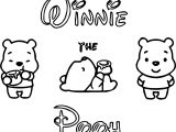 Disney Cuties Pooh Coloring Page
