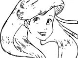 Disney Princess Ariel The Little Mermaid Coloring Page