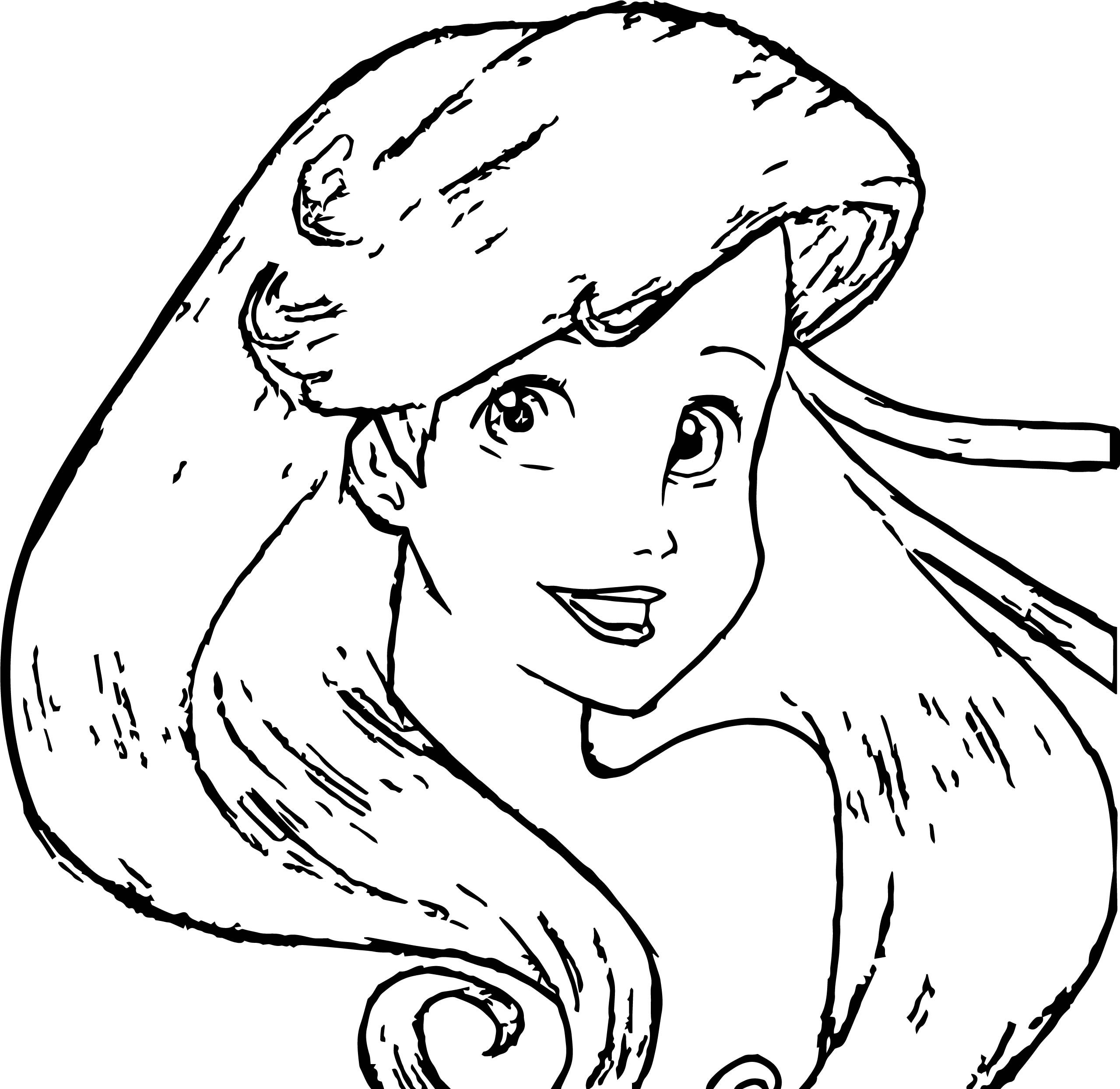 Disney Princess Ariel The Little Mermaid Coloring Page ...
