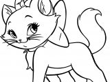 Disney The Aristocats Cat Walking Coloring Page