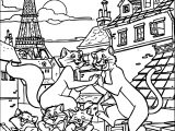 Disney The Aristocats Paris Coloring Page